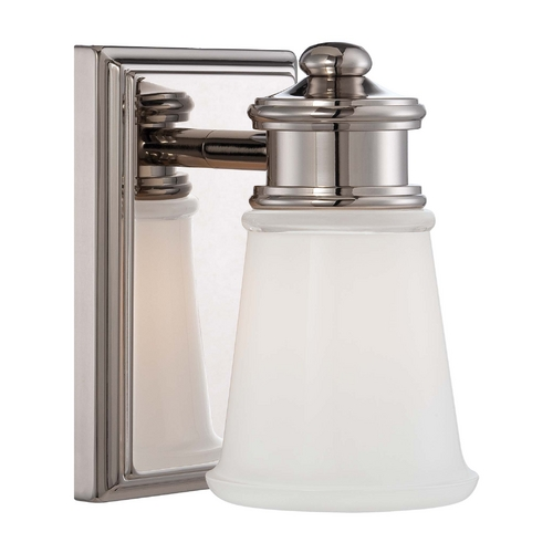 Minka Lavery Sconce Wall Light with Clear Glass in Polished Nickel Finish 4531-613
