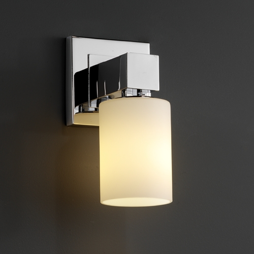 Justice Design Group Justice Design Group Fusion Collection Sconce FSN-8705-10-OPAL-CROM