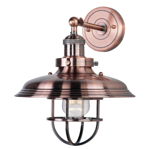 Maxim Lighting Maxim Lighting Mini Hi-Bay Antique Copper Sconce 25071ACP/BUI