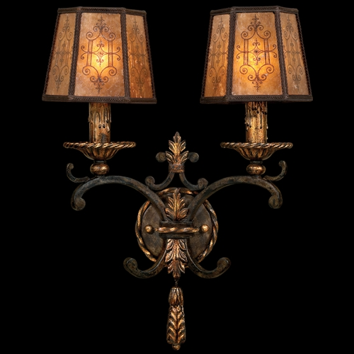 Fine Art Lamps Fine Art Lamps Epicurean Charred Iron with Brule Highlights Sconce 406950ST