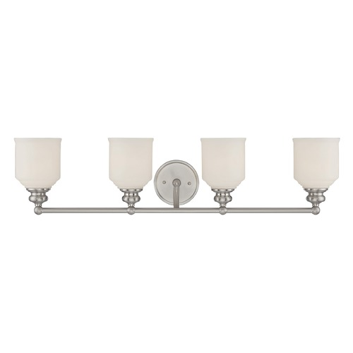 Savoy House Savoy House Lighting Melrose Satin Nickel Bathroom Light 8-6836-4-SN