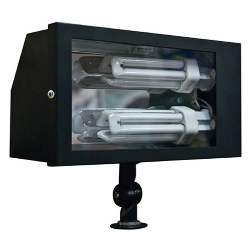 Dabmar Lighting Black Solid Brass Area Flood Light DF5675-B