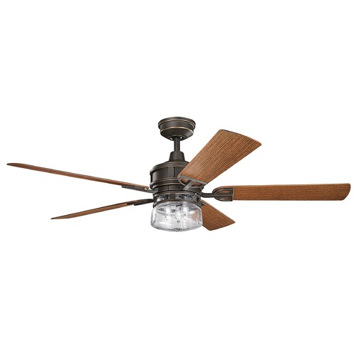 Kichler Lighting Kichler Lighting Lyndon Patio Olde Bronze Ceiling Fan with Light 310140OZ