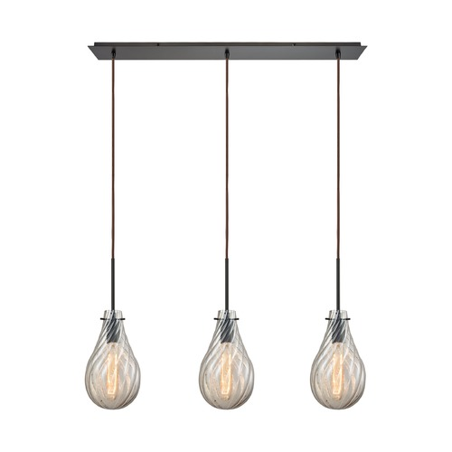 Elk Lighting Elk Lighting Cirrus Oil Rubbed Bronze Multi-Light Pendant with Bowl / Dome Shade 10453/3LP