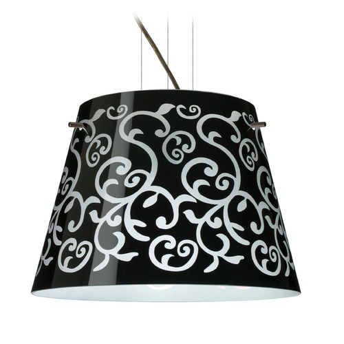 Besa Lighting Besa Lighting Amelia Bronze LED Pendant Light with Empire Shade 1KV-4340BD-LED-BR