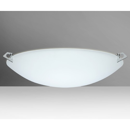 Besa Lighting Besa Lighting Sonya Frosted Glass Polished Nickel LED Flushmount Light 841925-LED-PN