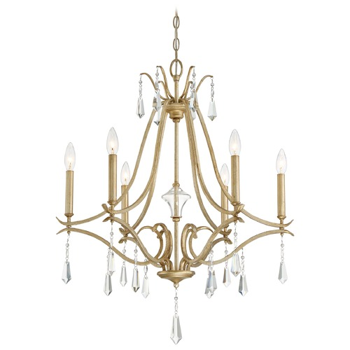 Minka Lighting Minka Laurel Estate Brio Gold Crystal Chandelier 4446-582