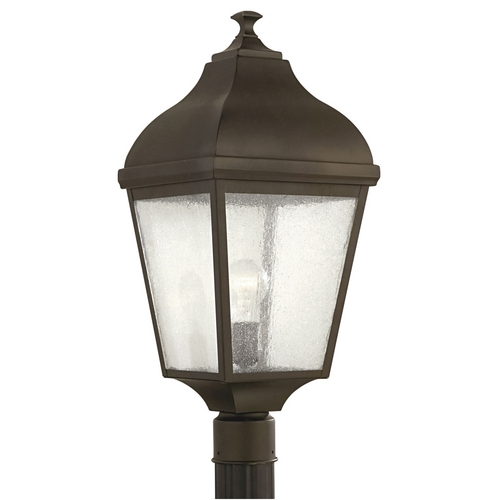 Home Solutions by Feiss Lighting Post Light with Clear Glass in Oil Rubbed Bronze Finish OL4007ORB