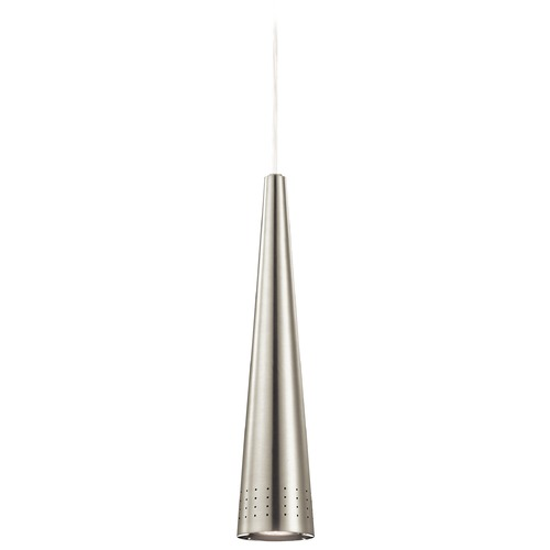 Elan Lighting Elan Lighting Irvo Brushed Nickel Mini-Pendant Light with Conical Shade 83631