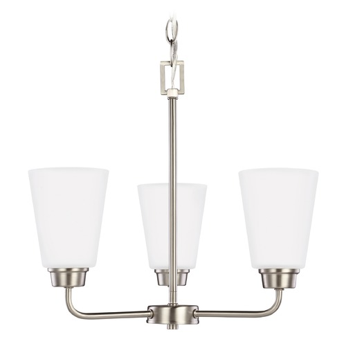 Sea Gull Lighting Sea Gull Lighting Kerrville Brushed Nickel LED Mini-Chandelier 3115203EN3-962