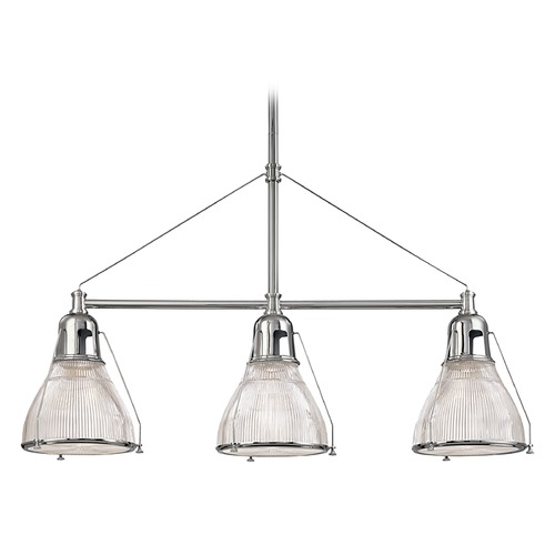 Hudson Valley Lighting Modern Island Light with Clear Glass in Polished Nickel Finish 7313-PN