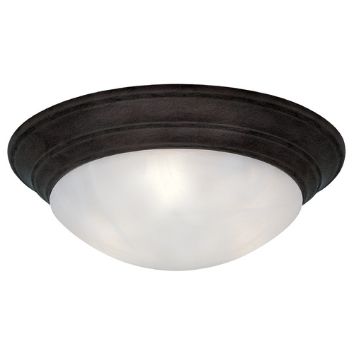 Designers Fountain Lighting Flushmount Light with Alabaster Glass in Oil Rubbed Bronze Finish 1245S-ORB