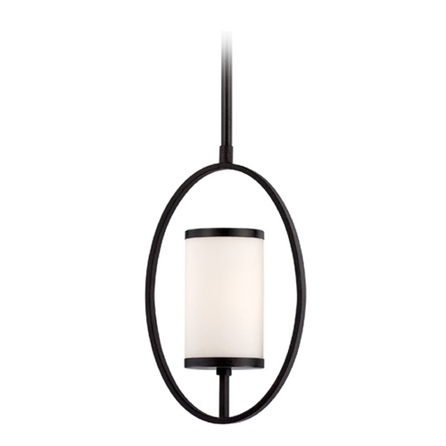 Designers Fountain Lighting Modern Mini-Pendant Light with White Glass 84430-ART