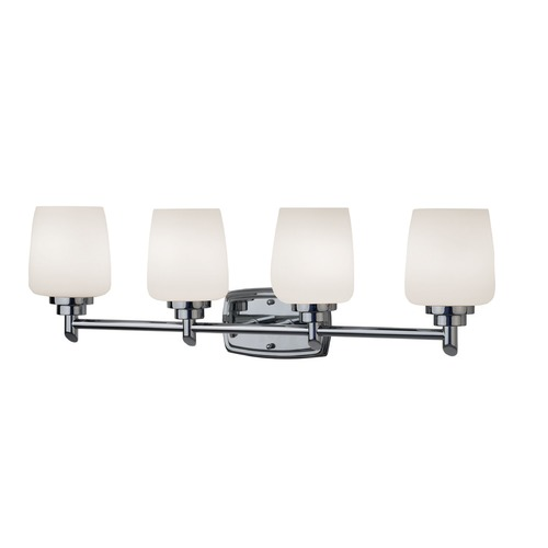 Design Classics Lighting Four-Light Bathroom Vanity Light 464-26