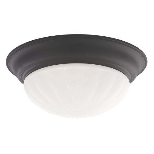 Recesso Lighting by Dolan Designs Bronze Ceiling Trim for Recessed Lighting with Melon Glass 10310-46