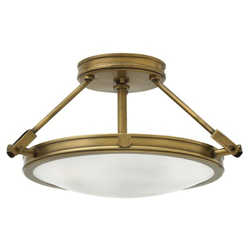 Hinkley Lighting Hinkley Collier Heritage Brass Semi-Flushmount Light 3381HB