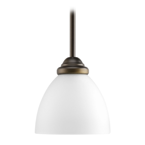 Progress Lighting Progress Mini-Pendant Light with White Glass P5131-20