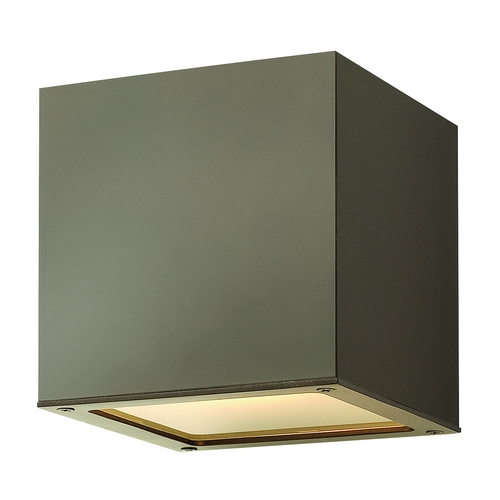 Hinkley Lighting Modern LED Outdoor Wall Light with Etched in Bronze Finish 1766BZ-LED