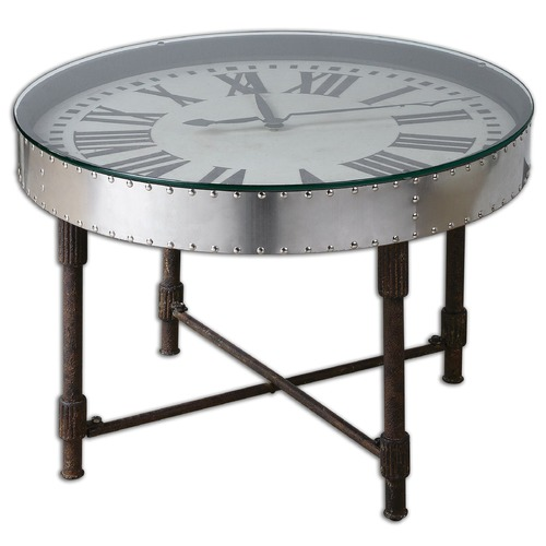 Uttermost Lighting Uttermost Cassem Clock Table 24321