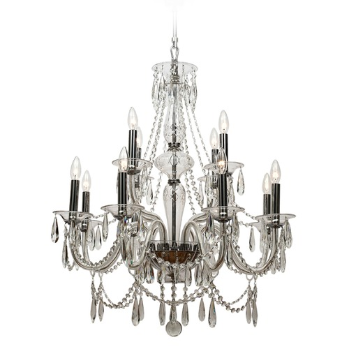 Crystorama Lighting Crystorama Lighting Barrymore Polished Chrome Crystal Chandelier 9919-CH-CL-MWP