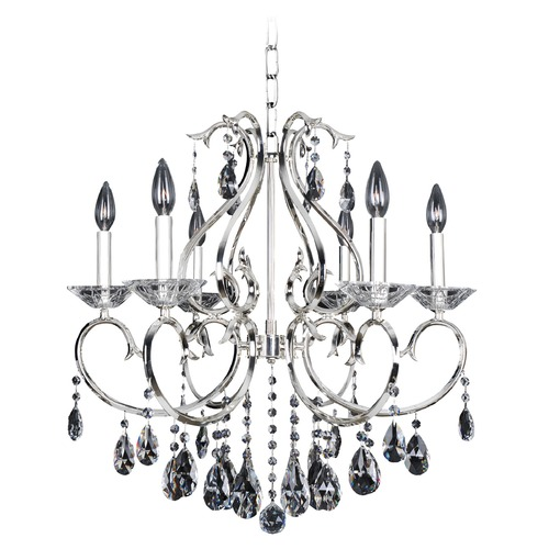 Allegri Lighting Cesti 6 Light Chandelier w/ Black Pearl 023754-007-FR001