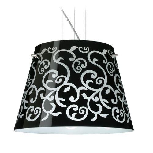 Besa Lighting Besa Lighting Amelia Satin Nickel LED Pendant Light with Empire Shade 1KV-4340BD-LED-SN