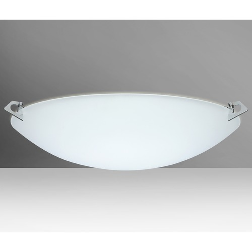Besa Lighting Besa Lighting Sonya Frosted Glass Satin Nickel LED Flushmount Light 841925-LED-SN