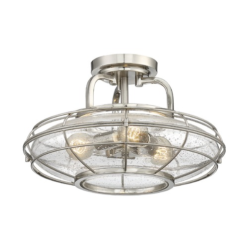 Savoy House Savoy House Lighting Connell Satin Nickel Semi-Flushmount Light 6-574-3-SN