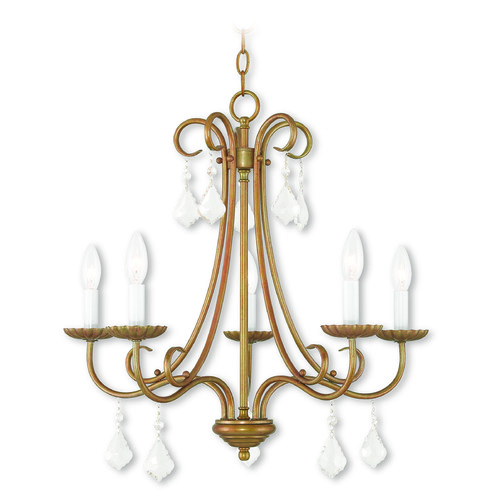 Livex Lighting Livex Lighting Daphne Antique Gold Leaf Chandelier 40875-48