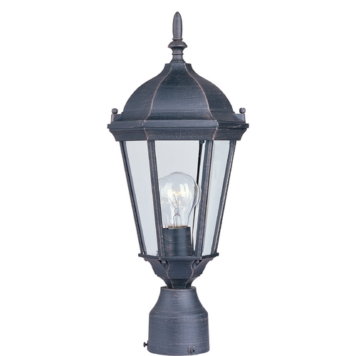 Maxim Lighting Post Light with Clear Glass in Rust Patina Finish 1001RP