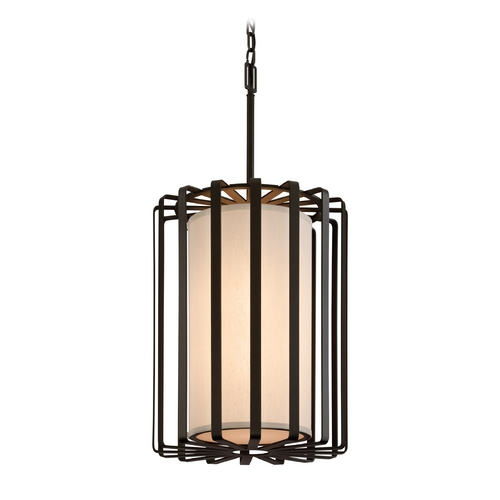 Troy Lighting Modern Pendant Light with White Shades in Graphite Finish F2814GR-L