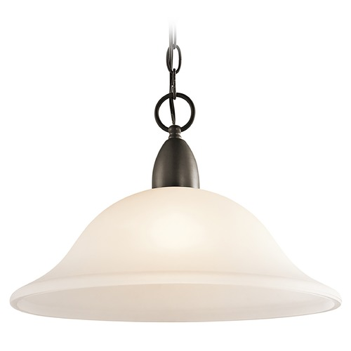 Kichler Lighting Kichler Pendant Light with White Glass in Olde Bronze Finish 42881OZ