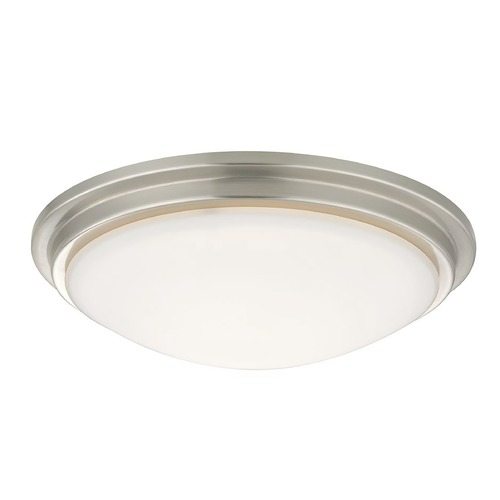Recesso Lighting by Dolan Designs Low Profile Decorative Recessed Light Ceiling Trim with White Glass 10330-09
