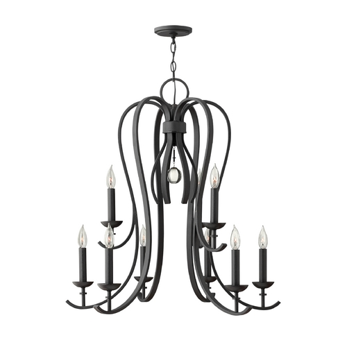 Hinkley Lighting Chandelier in Textured Black Finish 4478TB