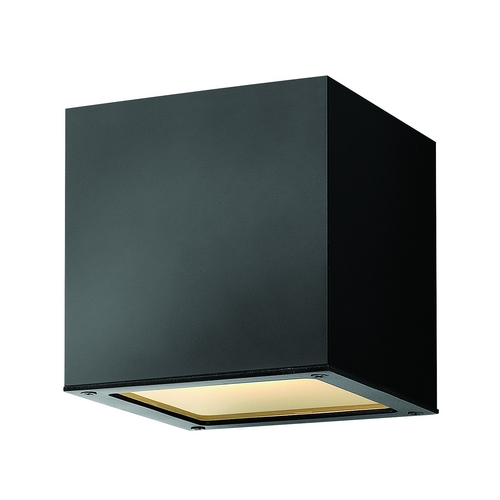 Hinkley Lighting Modern LED Outdoor Wall Light with Etched in Satin Black Finish 1766SK-LED