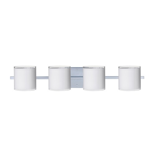 Besa Lighting Besa Lighting Pogo Chrome Bathroom Light 4WS-7180SF-CR