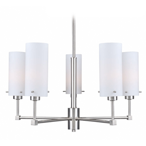 Lite Source Lighting Lite Source Lighting Scarlett Polished Steel Chandelier LS-19755