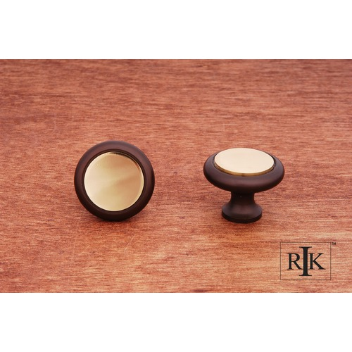 RK International Plain Knob with Flat Brass Insert CK5214BRB