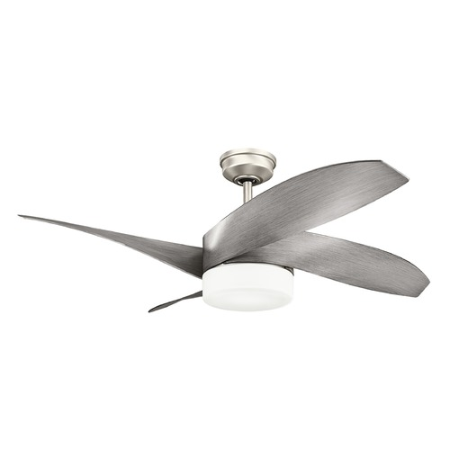 Kichler Lighting Kichler Lighting Nadia Brushed Nickel LED Ceiling Fan with Light 300252NI
