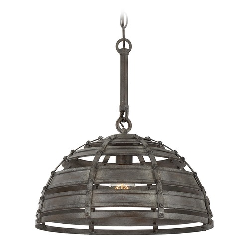 Savoy House Savoy House Lighting Malden Raw Steel Pendant Light with Bowl / Dome Shade 7-811-1-14