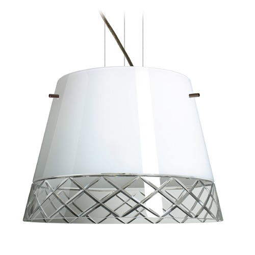 Besa Lighting Besa Lighting Amelia Bronze LED Pendant Light with Empire Shade 1KV-4340WC-LED-BR