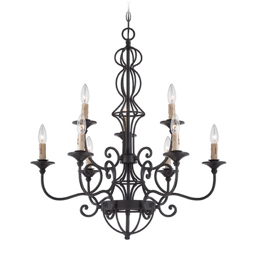 Designers Fountain Lighting Designers Fountain Tangier Natural Iron Chandelier 85589-NI