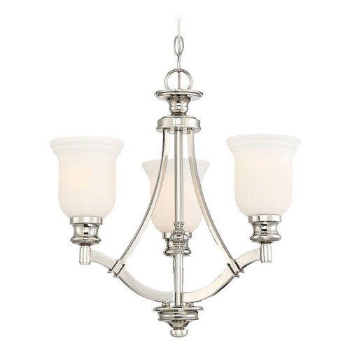 Minka Lavery Minka Audrey's Point 3-Light Chandelier in Polished Nickel 3403-613