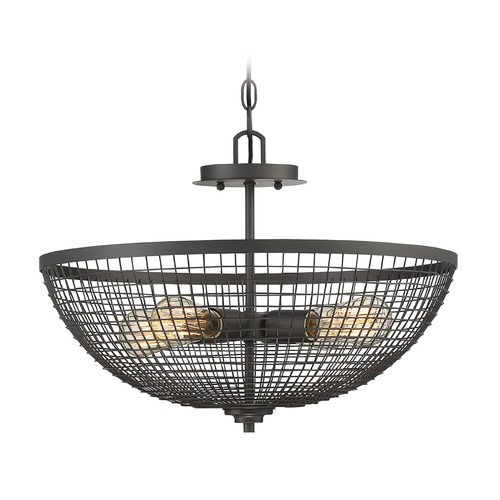 Savoy House Savoy House Lighting Wexford Remington Bronze Pendant Light with Bowl / Dome Shade 6-6022-4-83