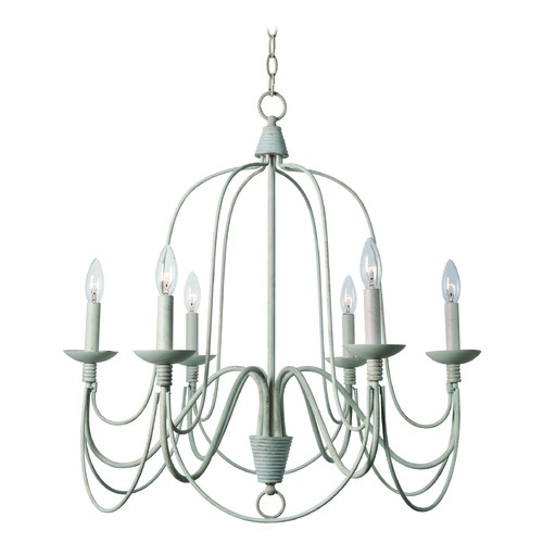 Kenroy Home Lighting Pannier White Chandelier by Kenroy Home 93066WH