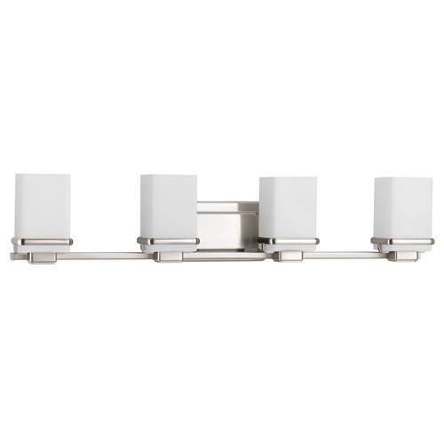 Progress Lighting Modern Bathroom Light Brushed Nickel Metric by Progress Lighting P2196-09