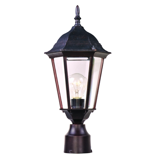 Maxim Lighting Post Light with Clear Glass in Empire Bronze Finish 1001EB