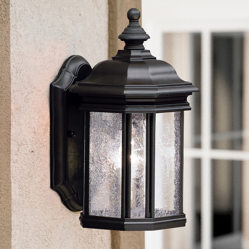 Kichler Lighting Kichler Outdoor Wall Light with Clear Glass in Black Finish 9028BK