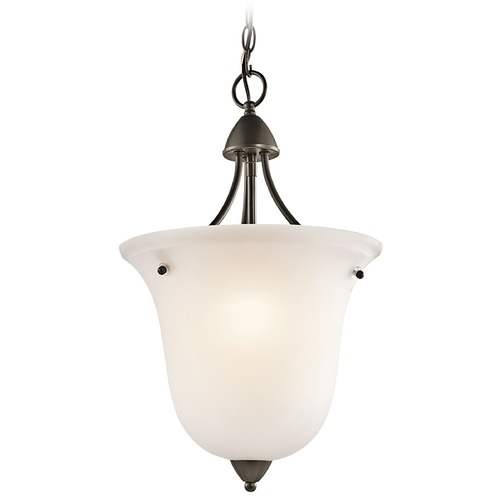 Kichler Lighting Kichler Pendant Light with White Glass in Olde Bronze Finish 42882OZ