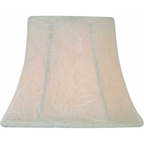 Lite Source Lighting Off-White Jacquard Bell Lamp Shade with Clip-On Assembly CH5196-6